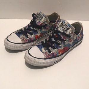 Converse All-Star Sneakers Floral Pattern EUC
